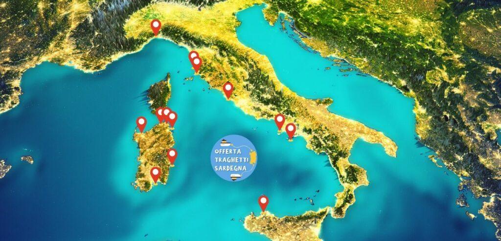 Cartina Sardegna Golfo Aranci.Prenota Il Tuo Traghetto Per La Sardegna In Offerta 2021 Prezzi E Promozioni